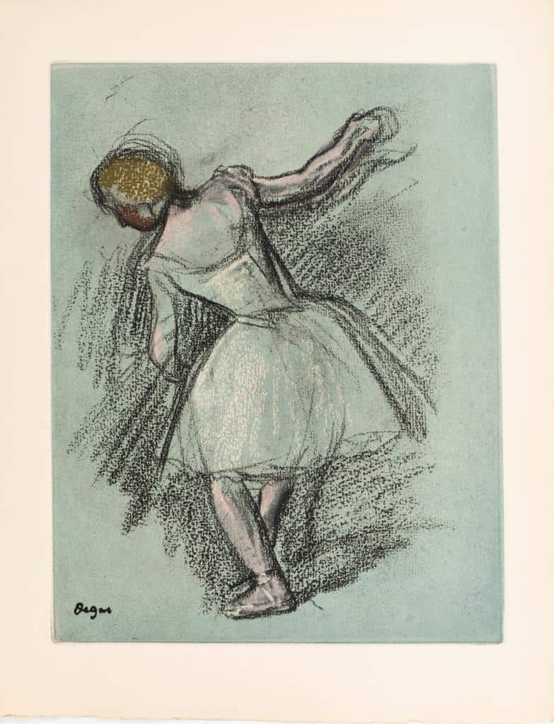 Edgar Degas fine art drawing onboard the MSC Grandiose