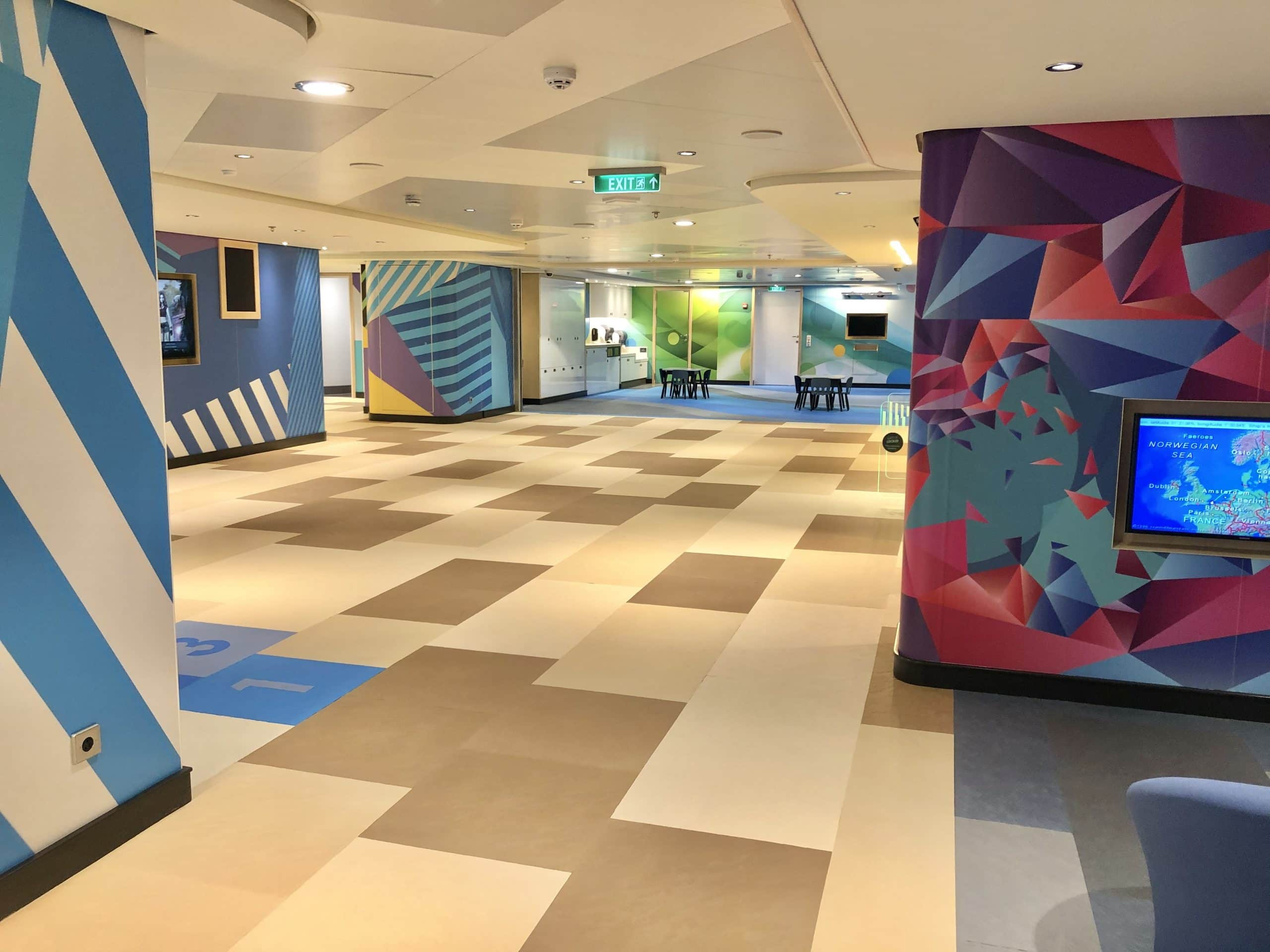 The Norwegian Encore Kids Clubs and Youth Programmes are Fun, Spacious and full of colour