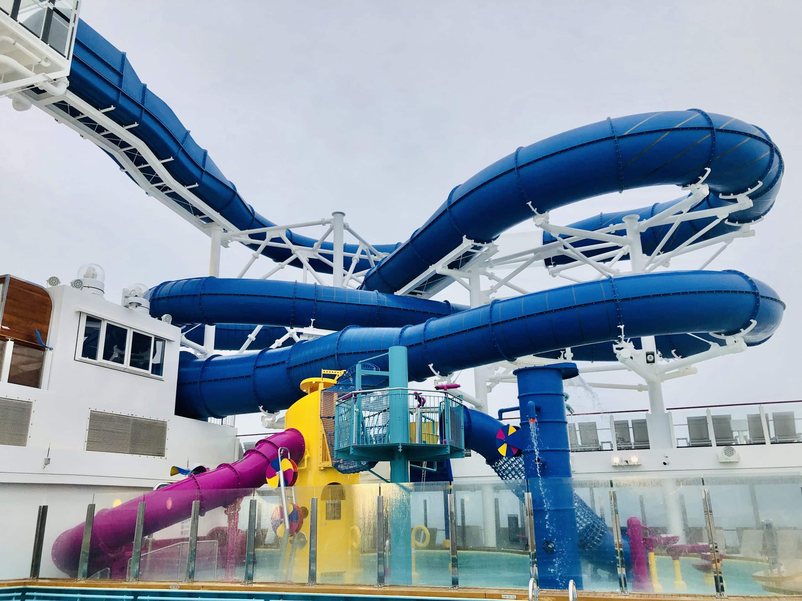 Encore water slides The Ocean Loops and the Aqua Racer!