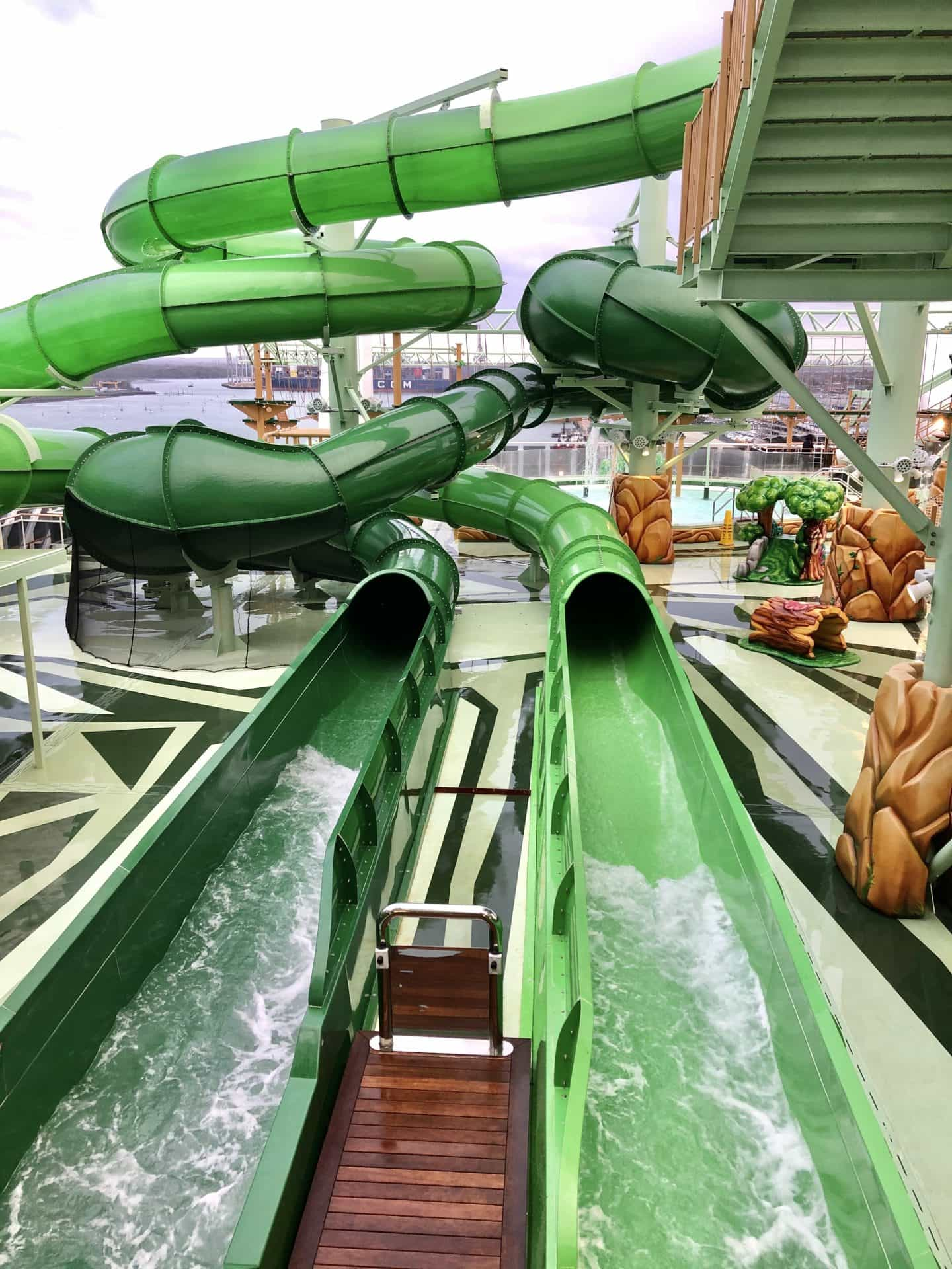 The three water slides on MSC Grandiosa in the Wild Forest are wild!