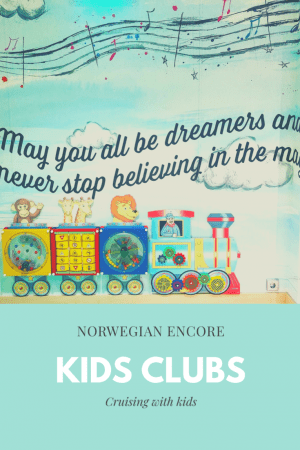 Norwegian Encore kids clubs and baby clubs onboard the cruise ship.