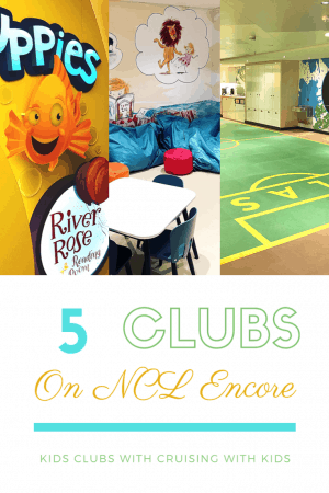 Norwegian Encore kids clubs and baby clubs onboard the cruise ship. How to travel instyle with kids and keep them entertained