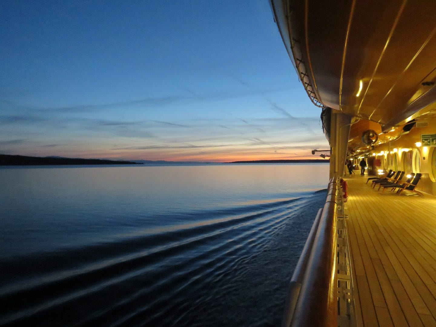Take a walk around deck to keep fit on a cruise