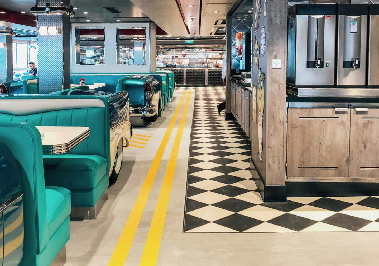 American Diner onboard On Encore,Norwegian Encore Pictures,