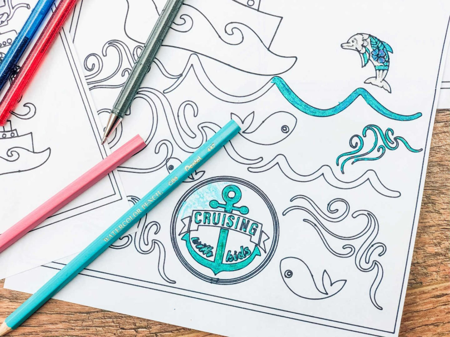 Cruise Colouring Pages For Children