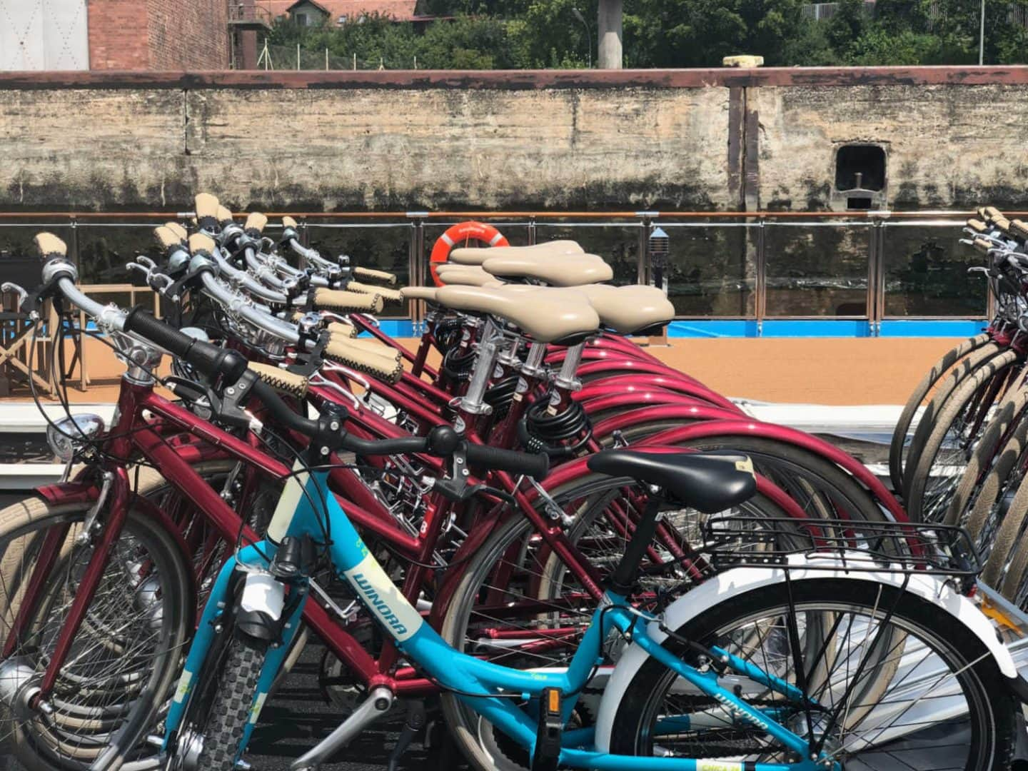 Free bikes on a river cruise