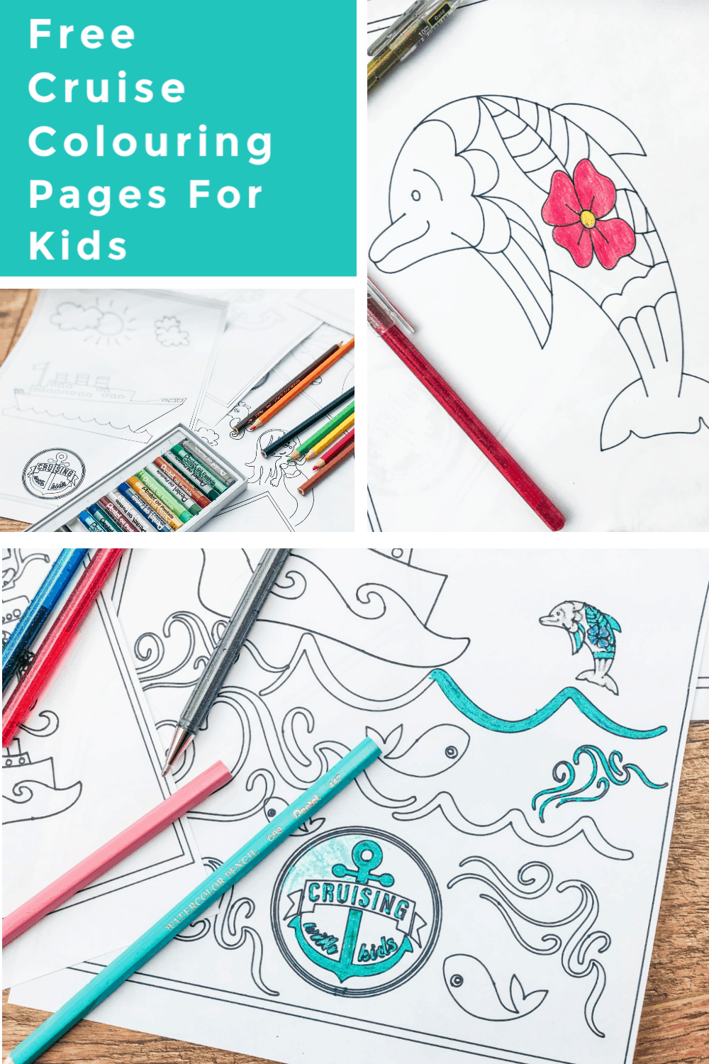 Free downloadable colouring pages for kids who cruise