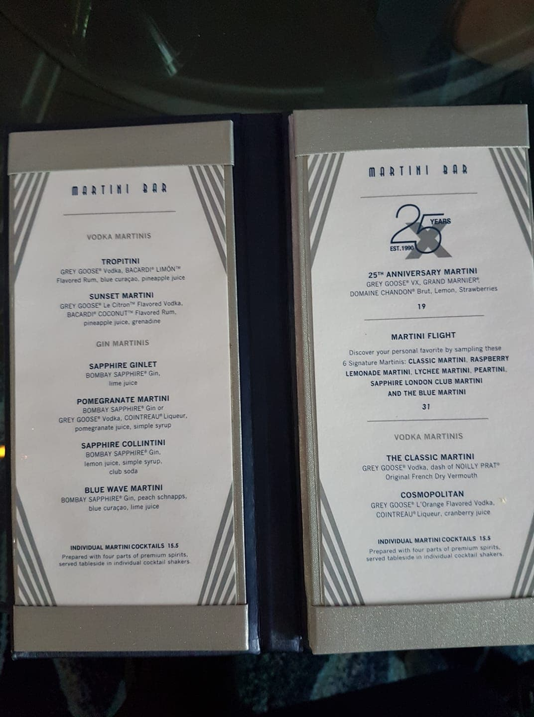 Martini Bar on Celebrity Silhouette, Celebrity Cruises Drink Packages