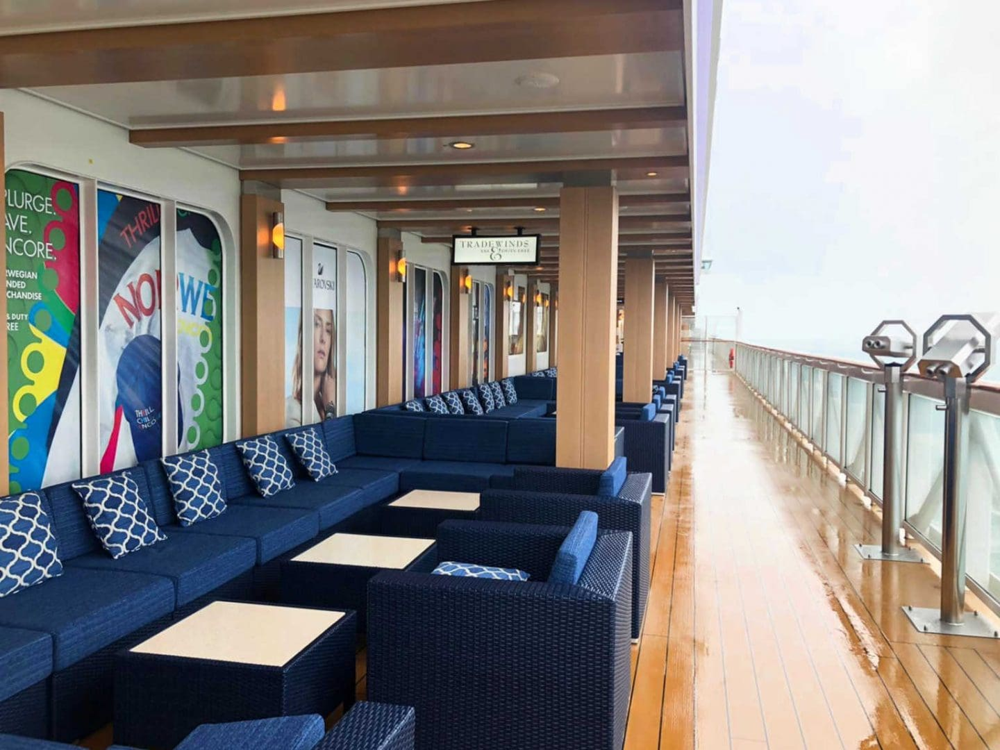 The Boardwalk on a cruise ship