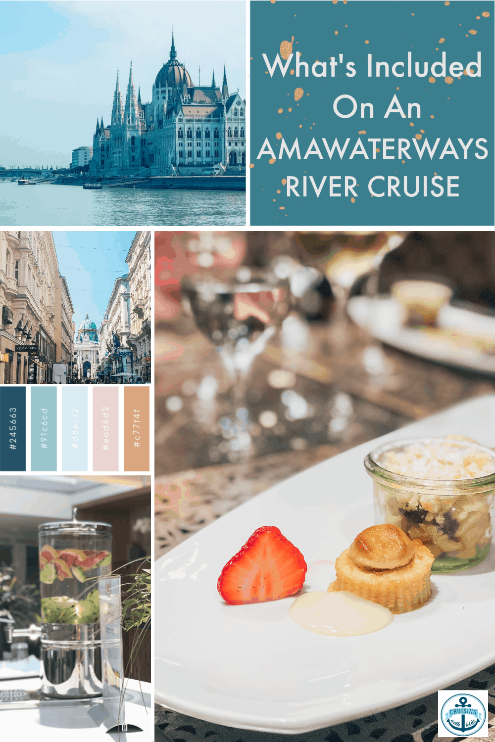Whats included on an AmaWaterways River Cruise, including meals, drinks, trips and gym, exactly what is included in the price.