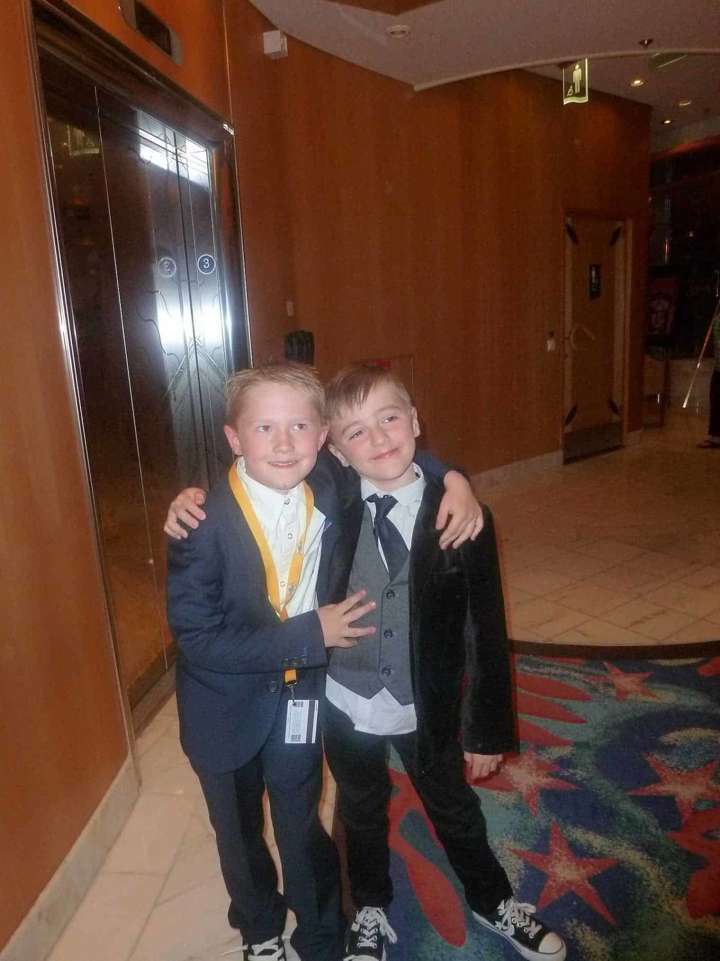 What Do Children Wear On Royal Caribbean Formal Night? Children  are welcomed with smart dresses shorts and collared shirts, however older teens tend to wear trousers and shirts with waistcoats or jackets