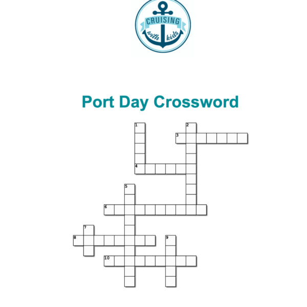 Cruise crosswords and stay at home activities for kids