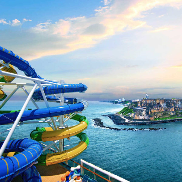 Adventure of the seas waterslides for cruising with kids