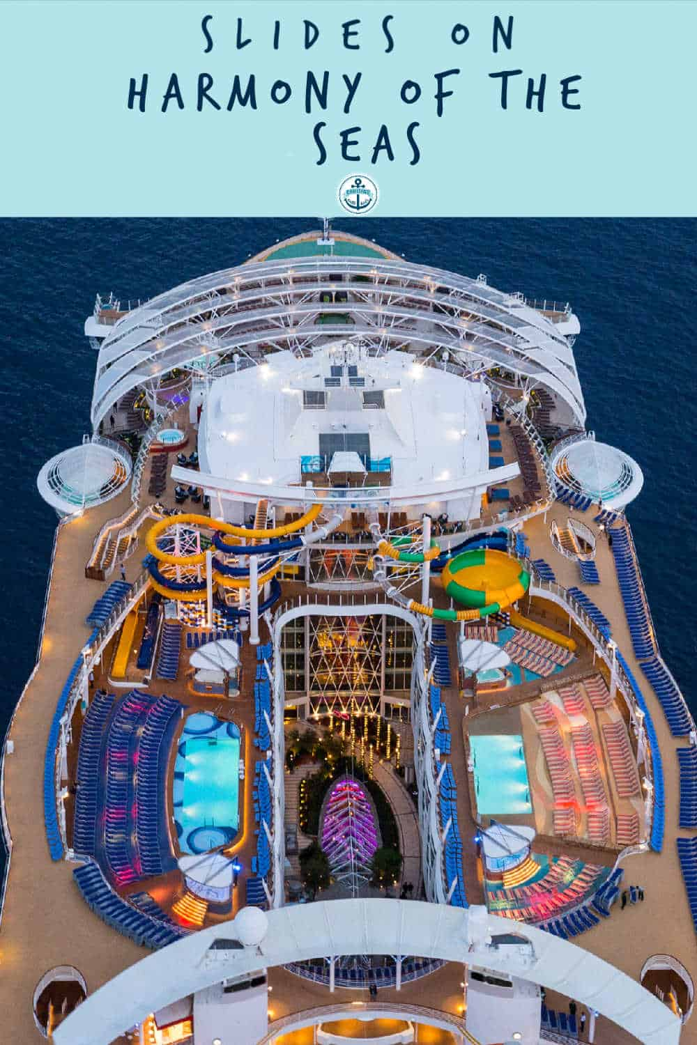 Everything you need to know about splash away bay, pools and slides on Harmony of the seas including weight and height restrictions copy