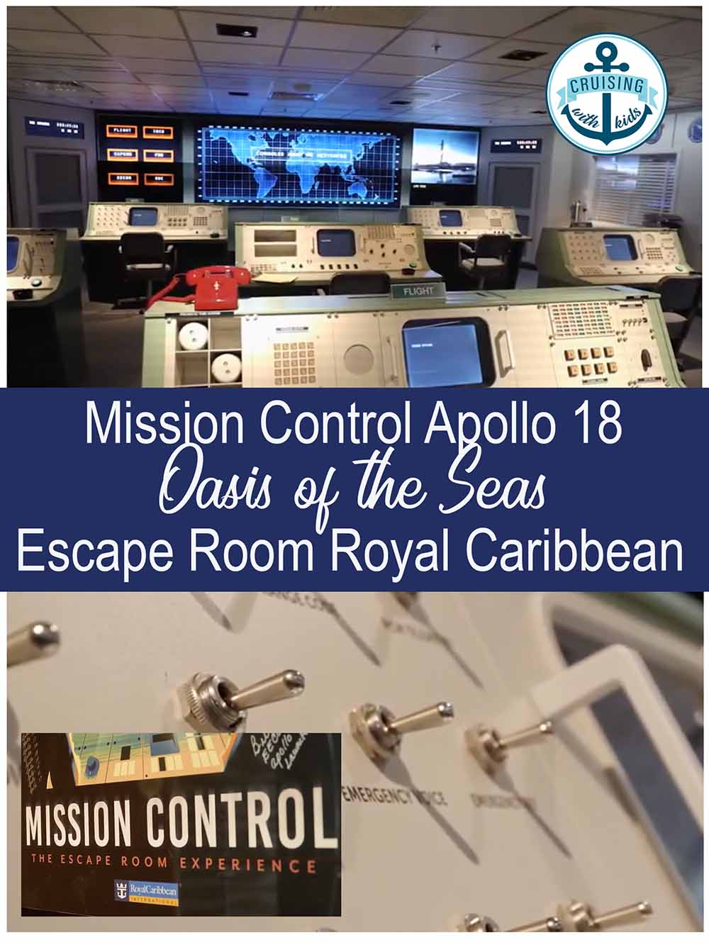 Royal Caribbean escape room pin image Oasis of the Seas Apollo 18
