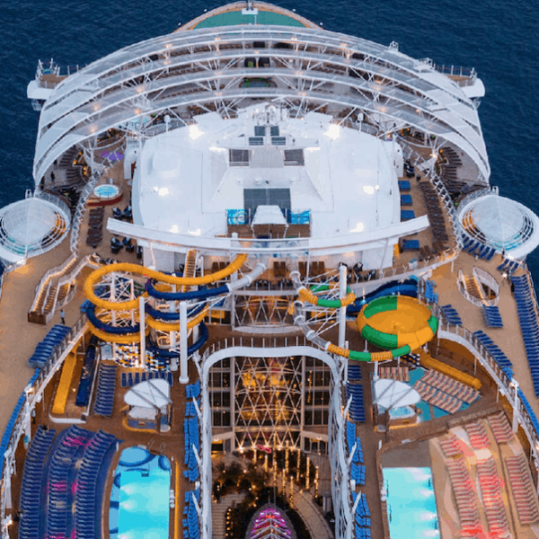 Water slides on Royal Caribbean's Harmony of the Seas