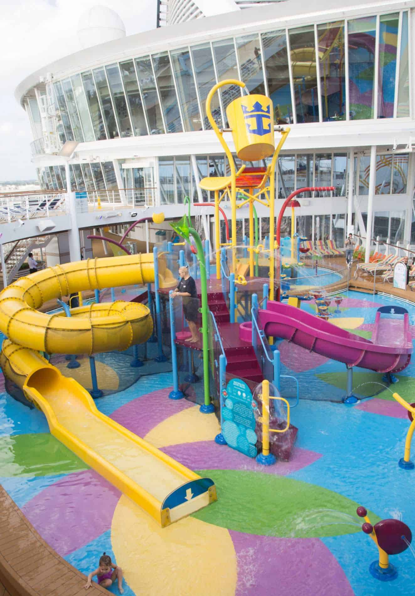 Water Slides On Harmony of the Seas.