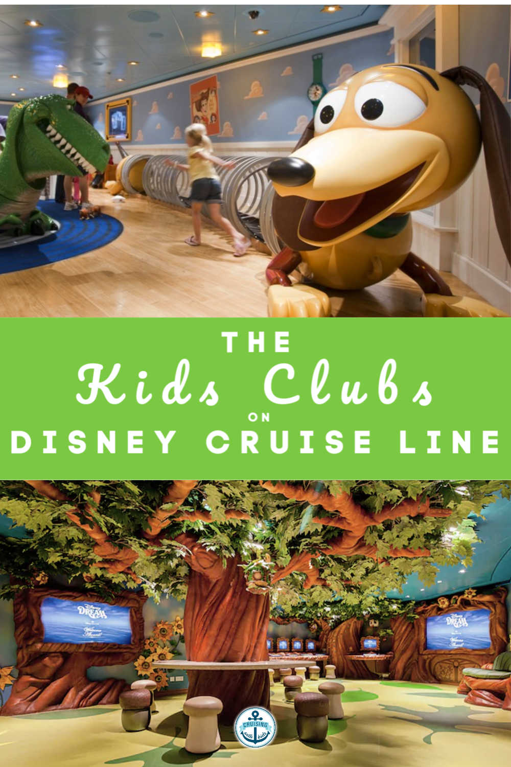 A guide for the kids clubs on Disney Cruise Line for children aded 3 to 12 cruising with Disney