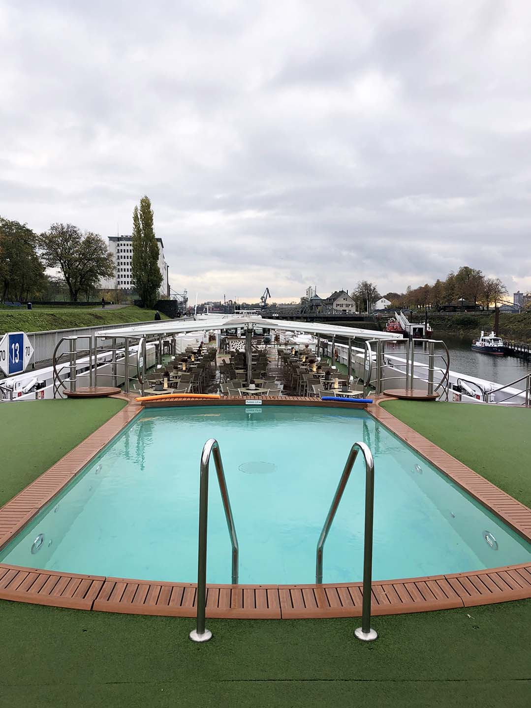 A-Rosa Flora swimming pool on river cruise